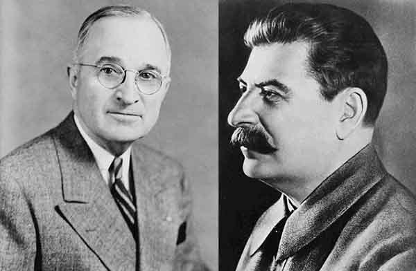 truman and stalin eats and west